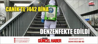CANİK'TE 7442 BİNA DENZENFEKTE EDİLDİ