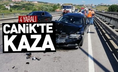 Canik'te kaza: 4 yaralı