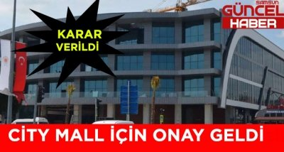 CITY MALL AVM ONAYI ALDI !