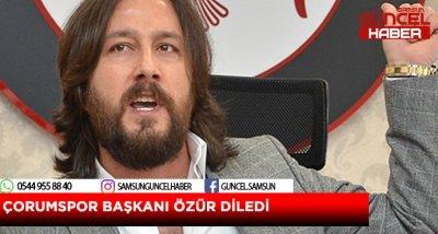 ÇORUMSPOR'DAN SAMSUNSPOR'A ÖZÜR