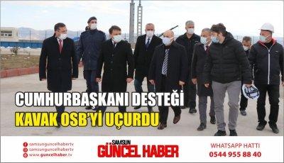 CUMHURBAŞKANI DESTEĞİ KAVAK OSB'Yİ UÇURDU