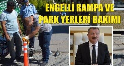 ENGELLİ RAMPA VE PARK YERLERİ BAKIMI