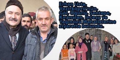 Erhan Usta, Vezirköprü'nün, Göl, Öğürlü, Şentepe, Kıranalan, İncesu ve Yağınözü Mahallelerine ziyarette bulundu.