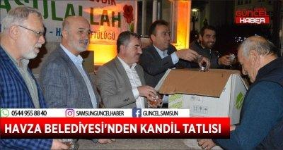 HAVZA BELEDİYESİ'NDEN KANDİL TATLISI
