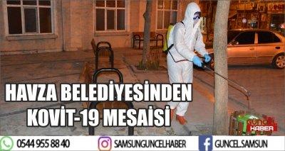 HAVZA BELEDİYESİNDEN KOVİT-19 MESAİSİ