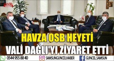HAVZA OSB HEYETİ VALİ DAĞLI'YI ZİYARET ETTİ
