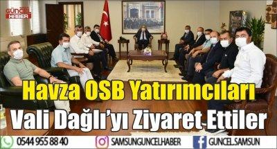 Havza OSB Yatırımcıları Vali Dağlı'yı Ziyaret Ettiler