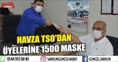 HAVZA TSO'DAN ÜYELERİNE 1500 MASKE