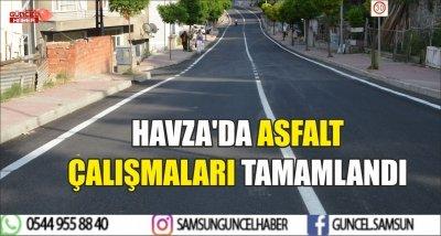 HAVZA'DA ASFALT ÇALIŞMALARI TAMAMLANDI