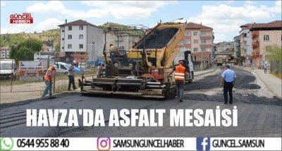 HAVZA'DA ASFALT MESAİSİ