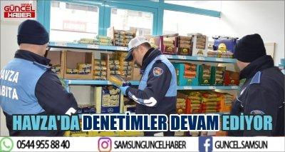 HAVZA'DA DENETİMLER DEVAM EDİYOR