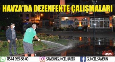 HAVZA'DA DEZENFEKTE ÇALIŞMALARI
