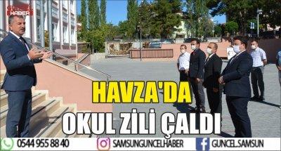 HAVZA'DA OKUL ZİLİ ÇALDI