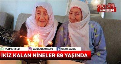 İKİZ KALAN NİNELER 89 YAŞINDA