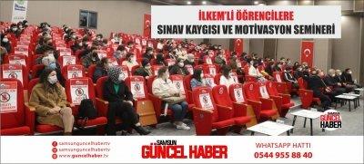 İLKEM'Lİ ÖĞRENCİLERE SINAV KAYGISI VE MOTİVASYON SEMİNERİ