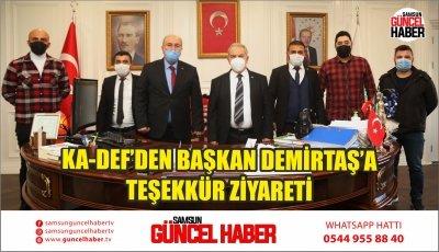 KA-DEF'DEN BAŞKAN DEMİRTAŞ'A TEŞEKKÜR ZİYARETİ