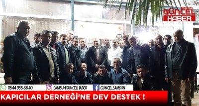 KAPICILAR DERNEĞİ'NE DEV DESTEK !