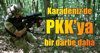 Karadeniz'de PKK'ya bir darbe daha