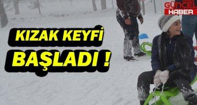 KIZAK KEYFİ BAŞLADI !