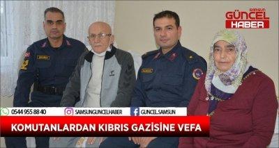 KOMUTANLARDAN KIBRIS GAZİSİNE VEFA