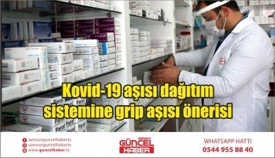Kovid-19 aşısı dağıtım sistemine grip aşısı önerisi
