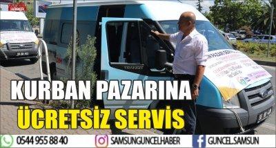 KURBAN PAZARINA ÜCRETSİZ SERVİS