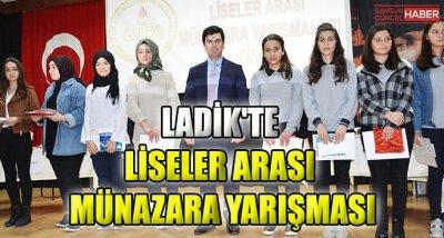 Ladik'te Liseler Arası Münazara Yarışması