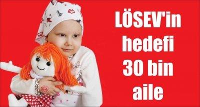 LÖSEV'in hedefi 30 bin aile