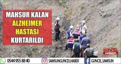 MAHSUR KALAN ALZHEİMER HASTASI KURTARILDI