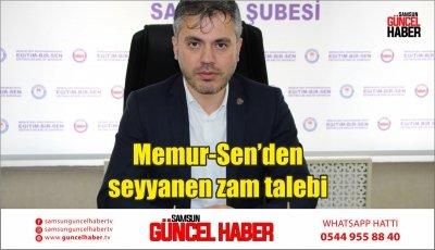 Memur-Sen'den seyyanen zam talebi