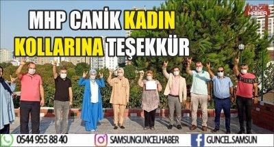 MHP CANİK KADIN KOLLARINA TEİEKKÜR