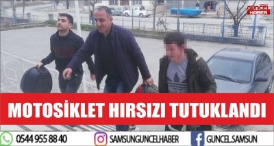 MOTOSİKLET HIRSIZI TUTUKLANDI