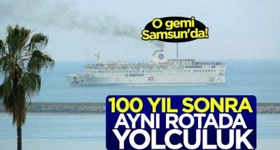 O gemi Samsun'a geldi