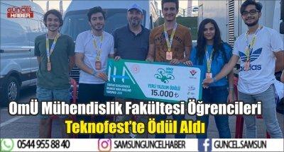 OMÜ Mühendislik Fakültesi Öğrencileri Teknofest'te Ödül Aldı