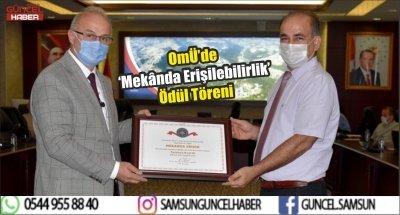 OMÜ'de 'Mekânda Erişilebilirlik' Ödül Töreni
