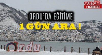 ORDU'DA EĞİTİME BİR GÜN ARA !