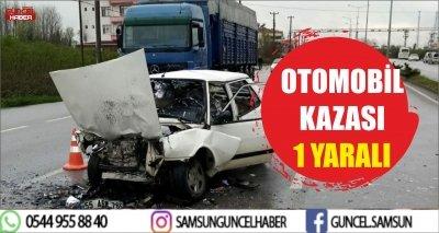 OTOMOBİL KAZASI 1 YARALI