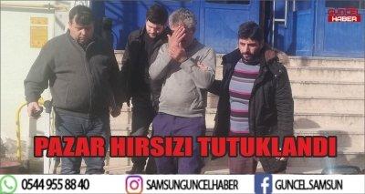 PAZAR HIRSIZI TUTUKLANDI
