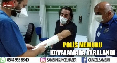 POLİS MEMURU KOVALAMADA YARALANDI