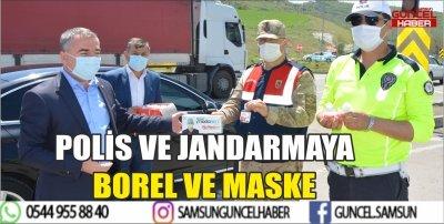 POLİS VE JANDARMAYA BOREL VE MASKE