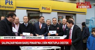 SALIPAZARI'NDAN BARIŞ PINARI'NA 2 BİN MEKTUPLA DESTEK