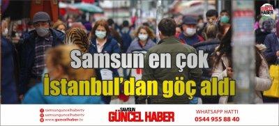Samsun en çok İstanbul'dan göç aldı