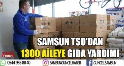 SAMSUN TSO'DAN 1300 AİLEYE GIDA YARDIMI