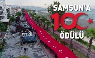 Samsun'a '100. Yıl' ödülü