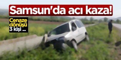 Samsun'da acı kaza!