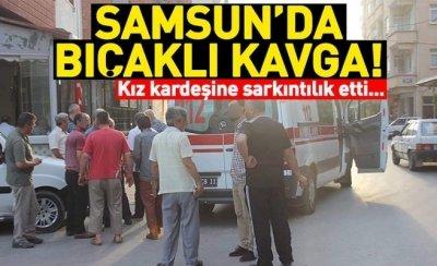 Samsun'da bıçaklı kavga!