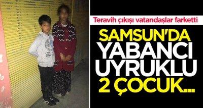 Samsun'da çocukları dilendiren şahıs gözaltına alındı