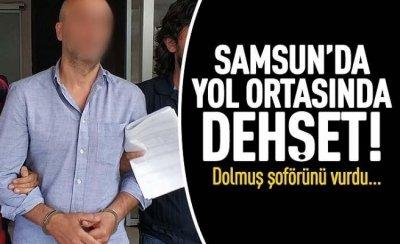 Samsun'da dolmuş şoförüne silahlı saldırı