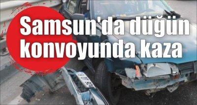 Samsun'da düğün konvoyunda kaza