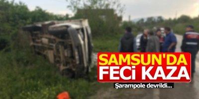Samsun'da feci kaza